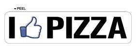 I Like PIZZA - Window Door Wall Bumper Sticker - Apply to any surface