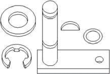 - New Cam Lever Kit 104269R1 Fits CA 1086, 1486, 1586