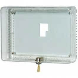 Honeywell TG512A1009 Thermostat Cover With Lock And Keys, Outside Dimensions 7-1/4