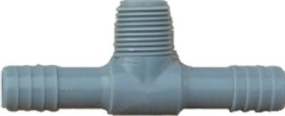 Genova Products 351440 Combination Tee (Ins x Ins x Mip) Pipe Fitting, 1""