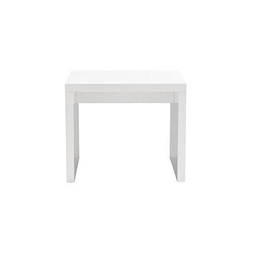 Eurø Style Abby Lightweight High-Gloss Lacquer Side Table, White