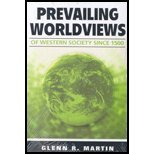 Prevailing Worldviews of Western Society Since 1500 (06) by Martin, Glenn R [Perfect Paperback (2006)]