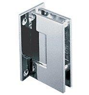 C.R. LAURENCE GEN037SC CRL Satin Chrome Geneva 037 Series Wall Mount Full Back Plate Standard Hinge