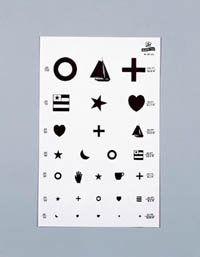 1034129 PT# 1263 Chart Symbols Illiterate 20' Eye Kindergarten 14x9'' Ea Made by Graham-Field/Everest &Jennings