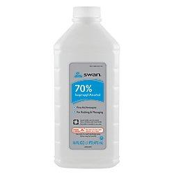 Swan 70% Isopropyl Rubbing Alcohol, 16 Oz. Bottle, Box Of 12