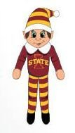 Forever Collectibles - NCAA Team Elf, Iowa State Cyclones