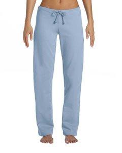 Bella Women's Ringspun Cotton Straight Leg Fleece Pants, baby blue, Medium