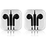 Apple Earbuds,Iphone Earphone, zeakko In Ear Earbuds with Mic and Remote Control Headphones for Iphone 6 6s SE Sammung S7 S6 Note, 2 Pack Black