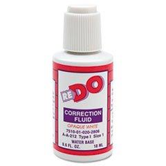 AbilityOne - Correction Fluid - Water-Based, Type I, 0.6 oz Bottle, White 7510-01-020-2806