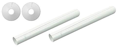 tubos corrosivos juego de 8 mangas para calefacci/ón radiador casa ba/ño funda para rata Cubiertas para radiador de mangueras y collares cocina color blanco no requiere pintura