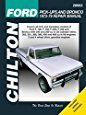 ford 1979 - Chilton Ford Trucks and Bronco 1973-1979 Repair Manual (26662)