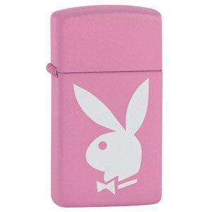 (Zippo - Pink Matte, Slim Playboy)