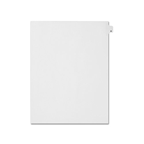 - AMZfiling Individual Index Tab Dividers- Printed A, Letter Size, White, Side Tabs, Position 1 (25 Sheets/Pkg)