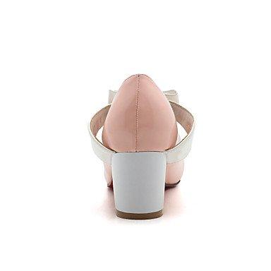Le donne sexy elegante sandali donna tacchi Primavera Estate Autunno Inverno altri cuoi Office & Carriera Abito casual Chunky Heel Bowknot Split JointBlack Rosa verde , rosa , noi10.5 / EU42 / uk8.5 /
