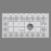Creative Grids 4.5'' x 8.5'' Rectangle Quilting Ruler Template CGR48 by Creative Grids