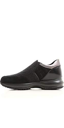 Slip Hogan Black Sneakers Leather On Women's HXW00N0Y710H4N0564 Cqv0O