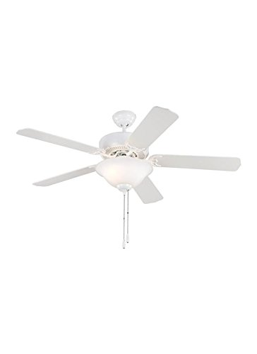 Sea Gull 15030BLE-15 Lighting 52-Inch Quality Max Plus Ceiling Fan with Light Kit, White, 1-Pack