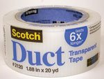 (3M Scotch Transparent Duct Tape, 1.88-Inch by 20-Yard Pack of 3 (2120-A) )
