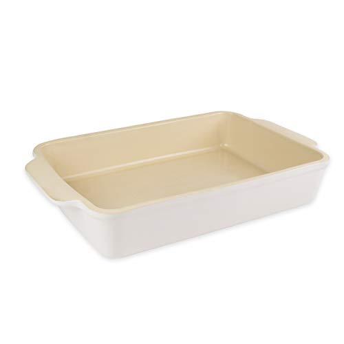 Oven Stoneware - USA Pan Bakeware Handmade Oven-Safe Nonstick Stoneware Rectangular Baking Dish, 12.75 x 8.75-Inch
