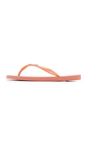 Pink Havaianas Light Women's Flop Logo Flip Metallic Slim Z14ZS0