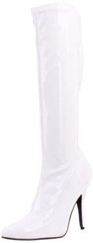Pleas (White High Heel Boots)
