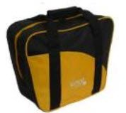 Epco Aurora Soft Pack Combo Bowling Ball Bags - Ball/Shoes - Black & Marigold by Epco
