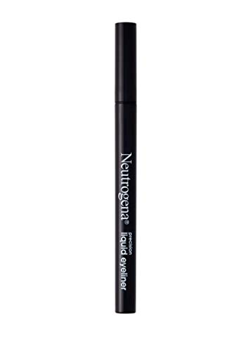 Neutrogena Precision Liquid Eyeliner with Honey & Coconut, Hypoallergenic, Smudge- & Water-Resistant Eyeliner Makeup for Precise Application, Jet Black, 0.013 fl. oz (Best Hypoallergenic Liquid Eyeliner)
