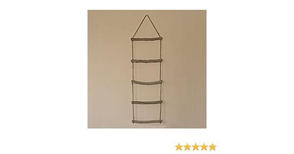 Toallero escalera de cuerda, 5 peldaños.: Amazon.es: Hogar