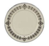 Lenox Solitaire Platinum Banded Ivory China 9-Inch Accent Plate Lenox China Accent Plate