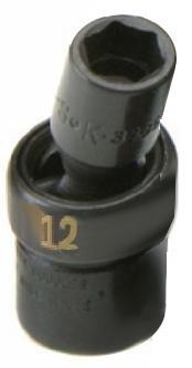 SK Hand Tool 33362 3/8-Inch Drive Swivel Impact Socket, (12 Mm Swivel)