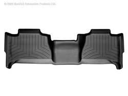 (WeatherTech Custom Fit Rear FloorLiner for Cadillac Escalade (Black))