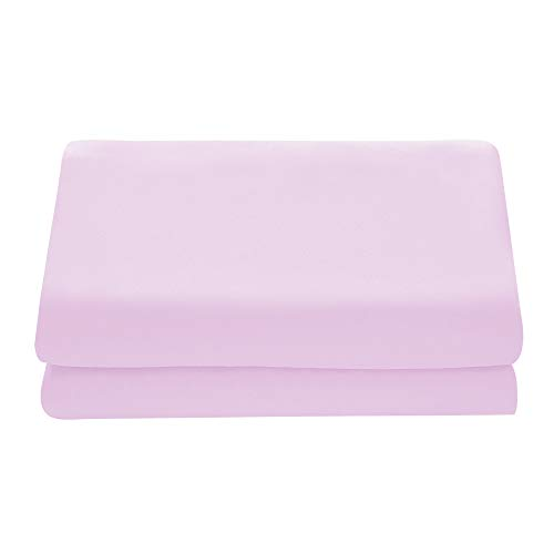 Comfy Basics 1-Piece Ultra Soft Flat Sheet - Elegant, Breathable, Light Pink, Twin