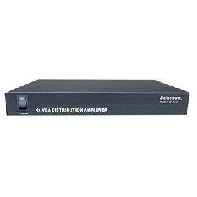 Shinybow 1x4 (1:4) 4-Way VGA PC RGBHV Video Splitter Distribution Amplifier SB-1104