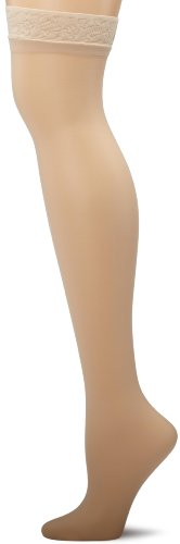 - Hanes Women's Silk Reflections Thigh Highs, Travel Buff, C/D