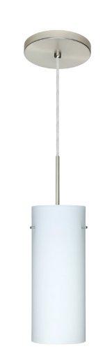 - Besa Lighting 1JT-412307-SN 1X100W A19 Stilo 10 Pendant with Opal Matte Glass, Satin Nickel Finish