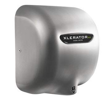 Excel Dryer XLERATOReco XL-SB-ECO 1.1N High Speed Automatic Dryer, Brushed Stainless Steel Cover, Surface Mounted, No Heat, GreenSpec Listed and LEED Credits with Noise Reduction Nozzle,110/120V 500 Watts