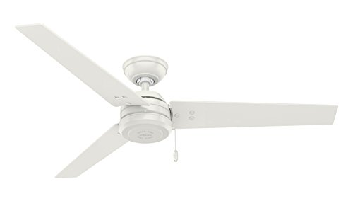 white ceiling fan no light - 3