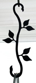 (Village Wrought Iron SS-Vwi-SH-D-76 12 inch Leaf S Hook)