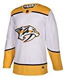 adidas Predators Away Authentic Pro Jersey - Men's Hockey 44 White/Yellow