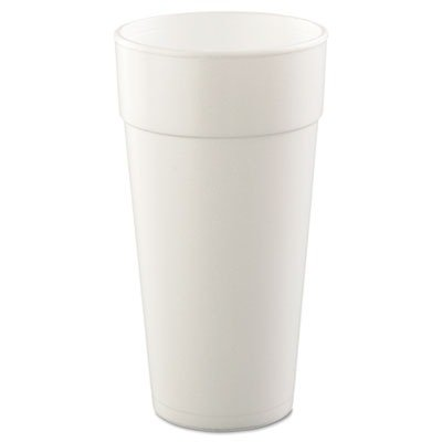 Foam Hot (Dart 24J16 Drink Foam Cups, Hot/Cold, 24oz, White, 25 Per Bag (Case of 20 Bags))