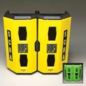 Allegro Industries 4325 Dual SCBA Wall Case, 34'' x 14'' x 32'', Yellow