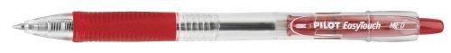 Pilot EasyTouch Retractable Ball Point Pens, Medium Point, Red Ink, Dozen Box (32222)