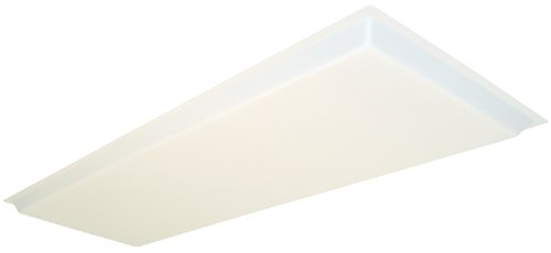 Elegant Lithonia Lighting D15SBDDROP Dropped Acrylic Diffuser, 48 Inch By 16 Inch  By 1.25 Inch Height, White