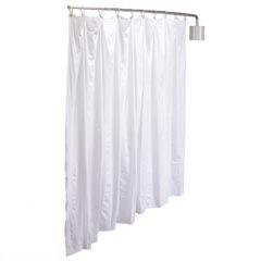 R&B Wire PST Wall Mount Telescoping Privacy Screen Curtain, White