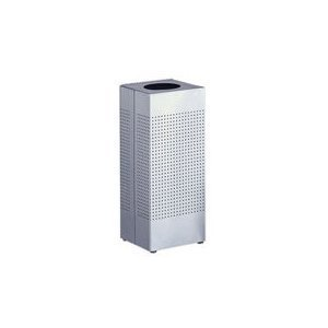 - Rubbermaid Commercial FGSC10SSRB Silhouette Designer Wastebasket, Square Open Top, 10-gallon, Stainless Steel