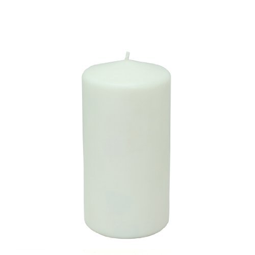 Zest Candle Pillar Candles, 3 by 6-Inch, White s