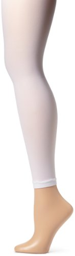 Sansha Little Girls' Microfiber Footless Dance Tight, White, X-Small/Small