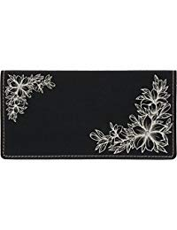 Floral Filigree Laser Engraved Leatherette Checkbook Cover