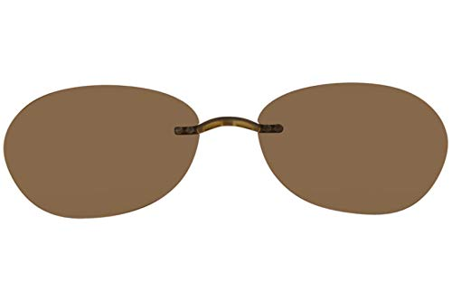 SILHOUETTE TMA The Must Collection 5065 Brown Polarized Clip On (Shape:6685 ()