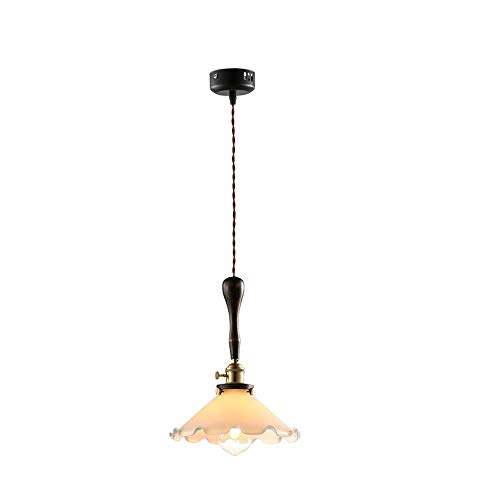 M-zmds 1 Light Shaded Contemporary Chandeliers with Alabaster Glass Oil Rubbed Bronze Modern Light Fixtures Ceiling Hanging Rustic Pendant Lighting for Dining Room Foyer Bedroom Living Room